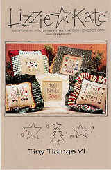 Tiny Tidings VI -- counted cross stitch from Lizzie Kate