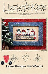 Love Keeps You Warm -- counted cross stitch from Lizzie Kate