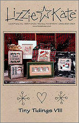 Tiny Tidings VIII -- counted cross stitch from Lizzie Kate