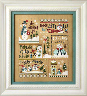 6 Snow Belles Click here for the free border pattern