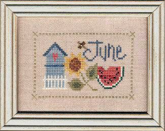 June Flip It From Lizzie Kate Counted Cross Stitch Designs