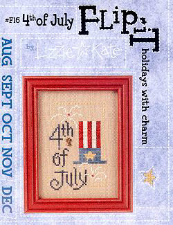 4th of July -- counted cross stitch from Lizzie Kate