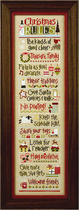 Click for our Christmas Rules Double Flip Border Instructions