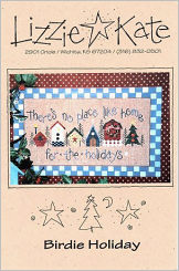 Birdie Holiday -- counted cross stitch from Lizzie Kate