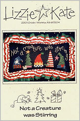 Not A Creature was Stirring -- counted cross stitch from Lizzie Kate