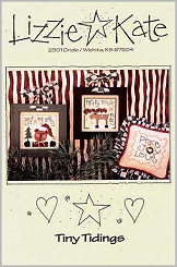 Tiny Tidings -- counted cross stitch from Lizzie Kate