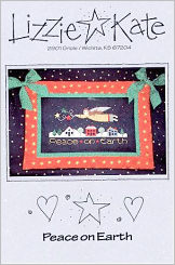 Peace on Earth -- counted cross stitch from Lizzie Kate