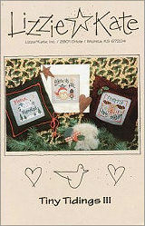 Tiny Tidings III -- counted cross stitch from Lizzie Kate