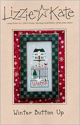 Winter Button Up -- counted cross stitch from Lizzie Kate
