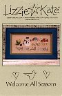 Welcome All Seasons -- counted cross stitch from Lizzie Kate