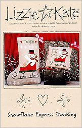 Snowflake Express Stocking -- counted cross stitch from Lizzie Kate