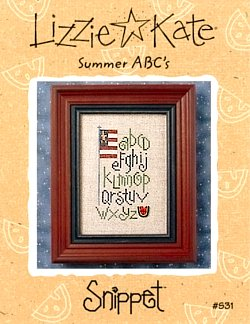 Summer ABCs -- counted cross stitch from Lizzie Kate
