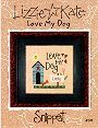 Love My Dog -- counted cross stitch from Lizzie Kate