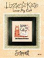 Love My Cat -- counted cross stitch from Lizzie Kate
