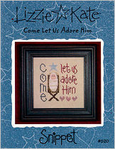 Come Let Us Adore Him -- counted cross stitch from Lizzie Kate