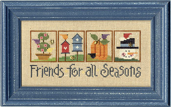 123 friends for all seasons model from lizzie kate counted cross