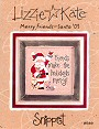 Merry Friends – Santa '03 -- counted cross stitch from Lizzie Kate