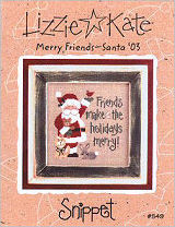 Merry Friends -- Santa '03 -- counted cross stitch from Lizzie Kate